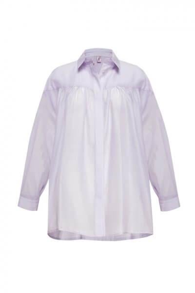 Объемная блуза из хлопка LKC_BLL1906, фото 3 - в интеренет магазине KAPSULA