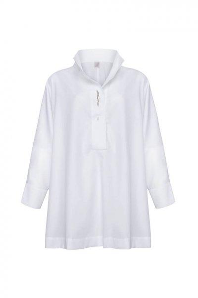 Хлопковая рубашка oversize LKC_BLO1901, фото 5 - в интеренет магазине KAPSULA