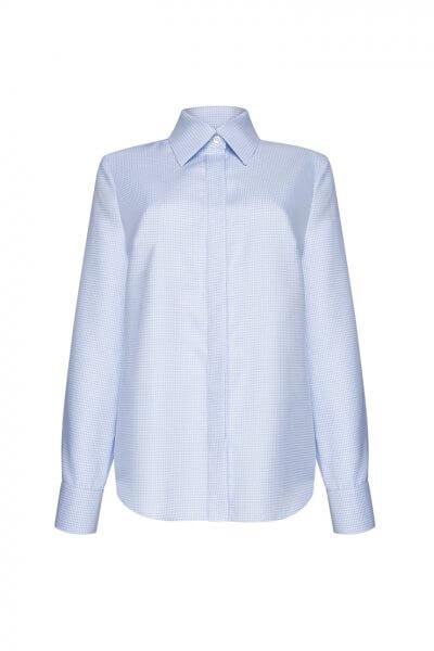Рубашка в клетку из хлопка LKC_BLO1902-square, фото 1 - в интеренет магазине KAPSULA