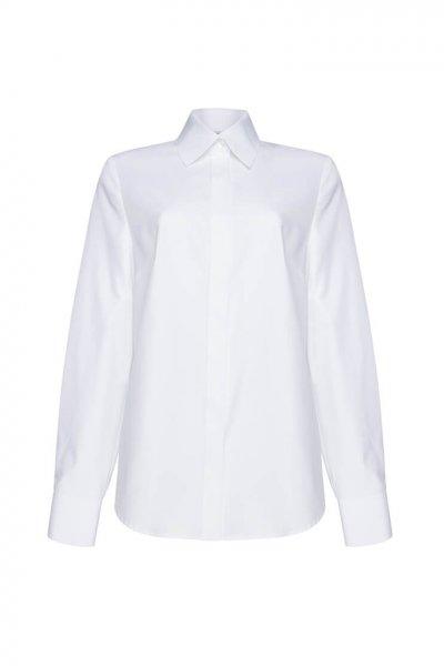 Рубашка классического кроя из хлопка LKC_BLO1902-white, фото 1 - в интеренет магазине KAPSULA