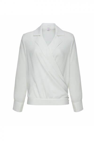 Шелковая блуза на запах LKC_BLV1903, фото 1 - в интеренет магазине KAPSULA