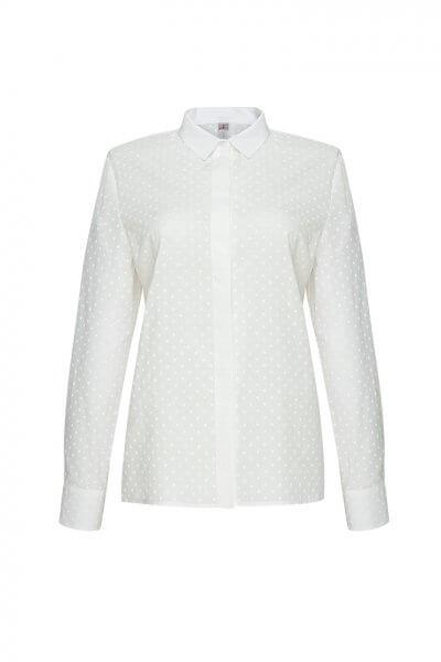 Хлопковая рубашка в горох LKC_BLV1904-polka-dot, фото 1 - в интеренет магазине KAPSULA