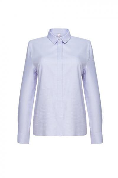 Хлопковая рубашка в клетку LKC_BLV1904-square, фото 1 - в интеренет магазине KAPSULA