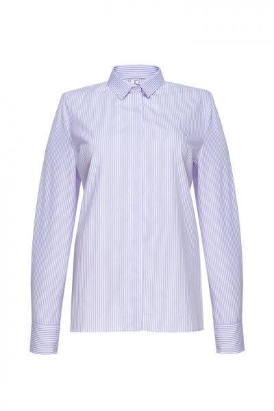 Хлопковая рубашка в полоску LKC_BLV1904-strip, фото 1 - в интеренет магазине KAPSULA