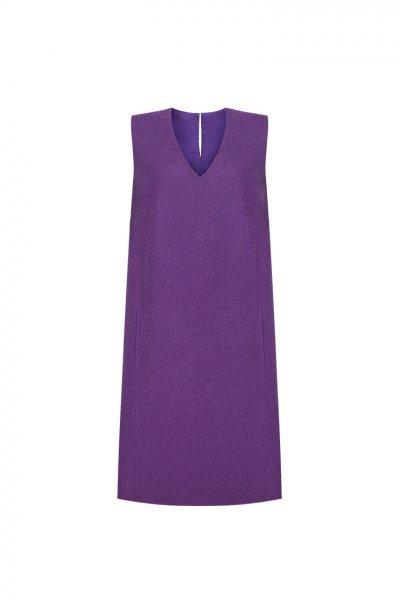 Платье из шерсти прямого кроя LKC_SFZ1802, фото 1 - в интеренет магазине KAPSULA