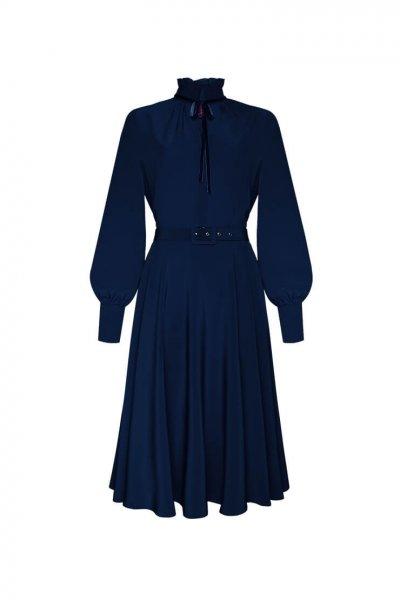 Шелковое платье А-силуэта LKC_SUO1904, фото 1 - в интеренет магазине KAPSULA