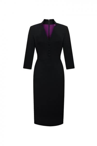 Платье миди из шерсти LKC_SUV1901, фото 1 - в интеренет магазине KAPSULA