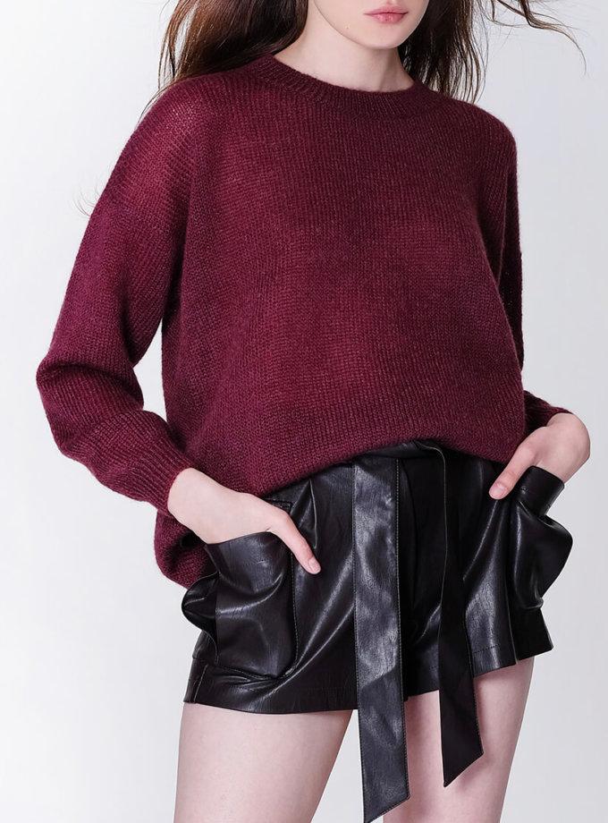 Тонкий свитер из мохера MISS_PU-013-brown, фото 1 - в интеренет магазине KAPSULA