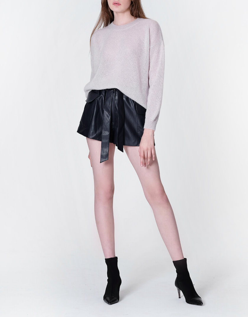 Тонкий свитер из мохера MISS_PU-013-pearl, фото 1 - в интернет магазине KAPSULA