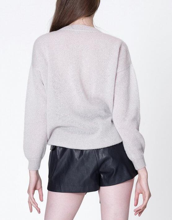 Тонкий свитер из мохера MISS_PU-013-pearl, фото 5 - в интеренет магазине KAPSULA