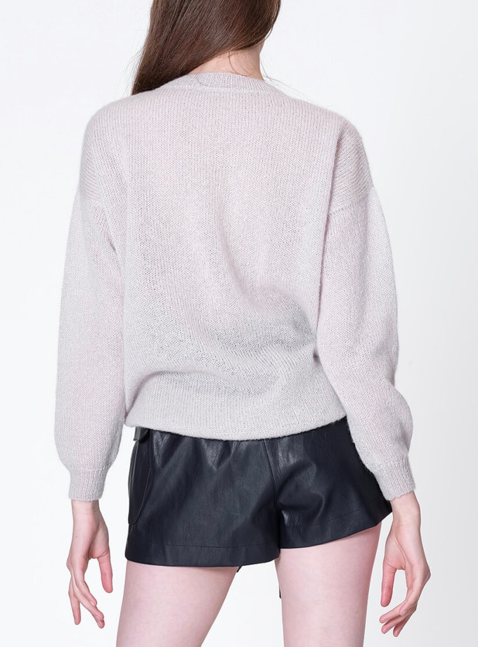 Тонкий свитер из мохера MISS_PU-013-pearl, фото 1 - в интеренет магазине KAPSULA