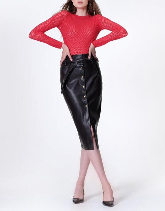 Ажурный джемпер MISS_PU-016-red, фото 8 - в интеренет магазине KAPSULA