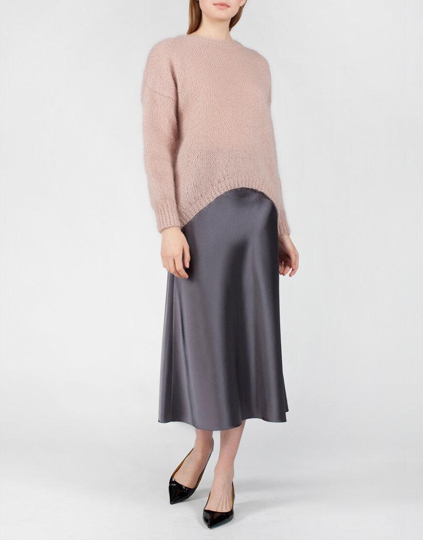 Юбка миди на молнии MISS_SK-005-grey, фото 1 - в интернет магазине KAPSULA