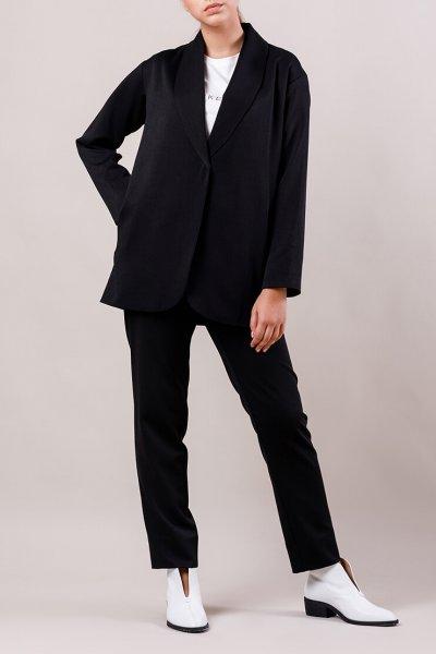 Брючный костюм с поясом MMT_015-047-black, фото 1 - в интеренет магазине KAPSULA