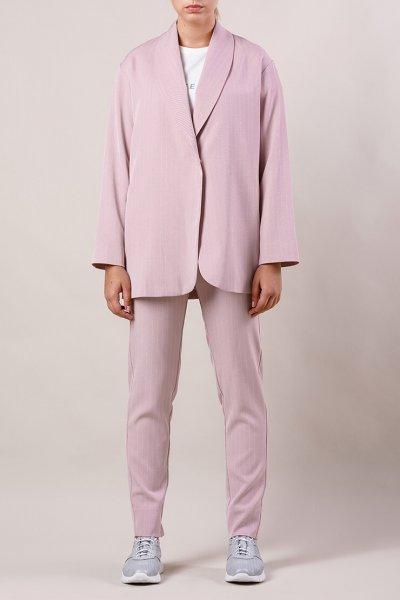 Брючный костюм с поясом MMT_015-047-gray-lavander, фото 2 - в интеренет магазине KAPSULA