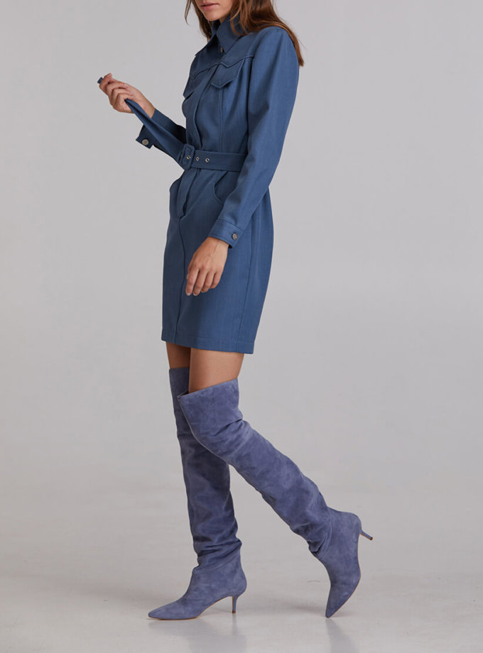 Платье мини из шерсти SAYYA_FW921, фото 1 - в интернет магазине KAPSULA