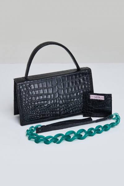 Кожаная сумка MOLLY с картхолдером SAYYA_FW984-1, фото 2 - в интеренет магазине KAPSULA