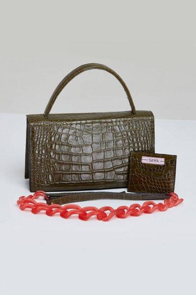 Кожаная сумка MOLLY с картхолдером SAYYA_FW984, фото 1 - в интеренет магазине KAPSULA