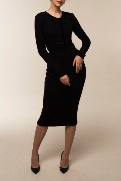 Трикотажная юбка из шерсти STP_180112, фото 1 - в интеренет магазине KAPSULA