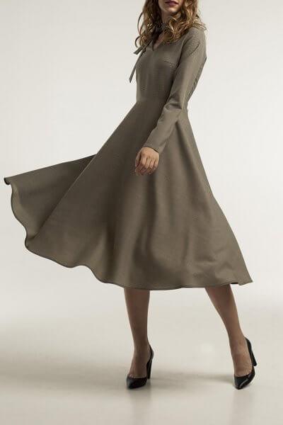 Платье миди из шерсти STP_1804, фото 1 - в интеренет магазине KAPSULA