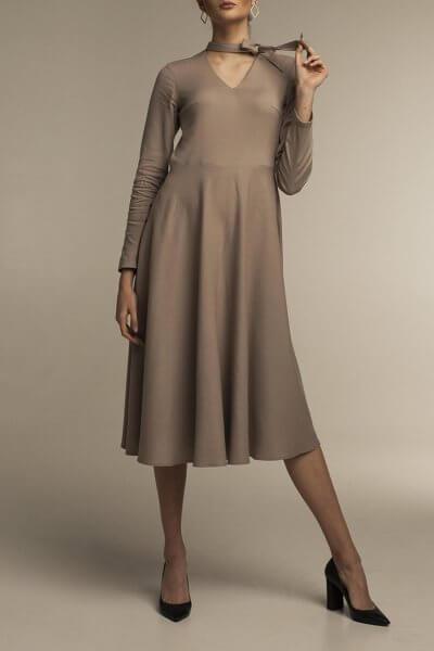 Платье миди с юбкой-солнце STP_1805, фото 1 - в интеренет магазине KAPSULA