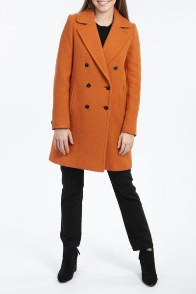 Двубортное пальто из шерсти TRC_MU63ATTDCH5401, фото 1 - в интеренет магазине KAPSULA