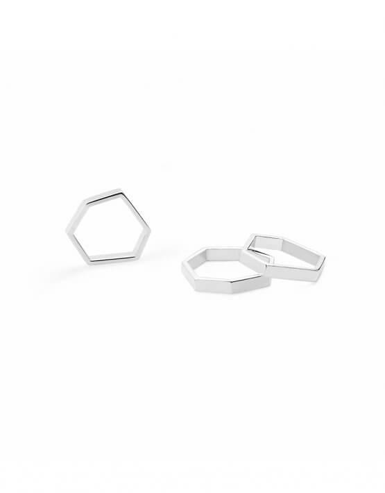 Кольцо  Geometry из серебра YSB_K-792, фото 4 - в интеренет магазине KAPSULA
