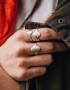 Серебряное кольцо на фалангу YSB_KL-7006ck, фото 2 - в интеренет магазине KAPSULA