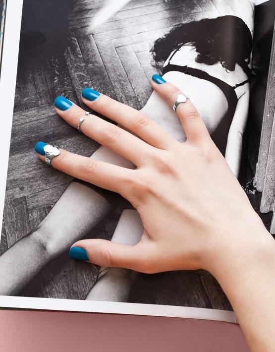 Серебряное кольцо на фалангу YSB_KL-7006ck, фото 6 - в интеренет магазине KAPSULA