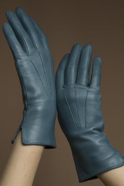 Кожаные перчатки на подкладе TOBE_cl_03_bl_sl, фото 1 - в интеренет магазине KAPSULA