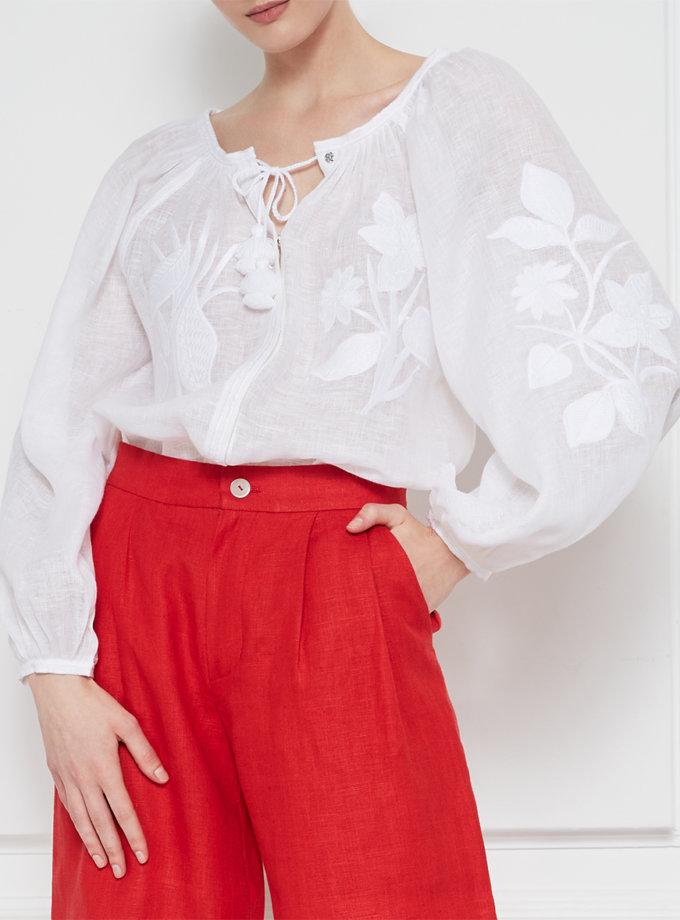 Блуза Эдэм из льна FOBERI_SS20030, фото 1 - в интернет магазине KAPSULA