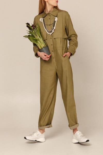 Хлопковый комбинезон с прямыми брюками AY_2935, фото 4 - в интеренет магазине KAPSULA