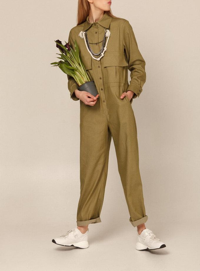 Хлопковый комбинезон с прямыми брюками AY_2935, фото 1 - в интеренет магазине KAPSULA