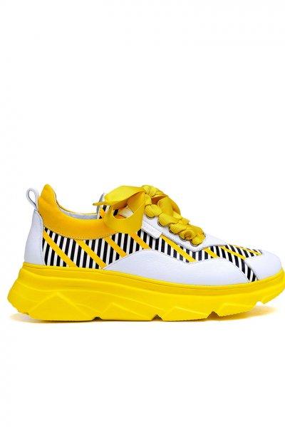 Легкие кроссовки из кожи с тиснением MDVV_566552, фото 1 - в интеренет магазине KAPSULA