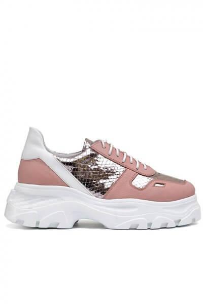 Легкие кроссовки из кожи с тиснением MDVV_568604, фото 1 - в интеренет магазине KAPSULA