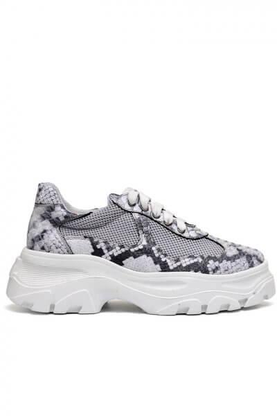 Легкие кроссовки из кожи с тиснением MDVV_569104, фото 4 - в интеренет магазине KAPSULA