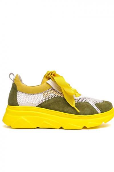 Кожаные кроссовки с принтом MDVV_569802, фото 1 - в интеренет магазине KAPSULA