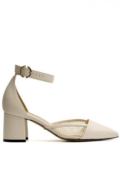 Летние кожаные туфли beige MDVV_719101, фото 1 - в интеренет магазине KAPSULA