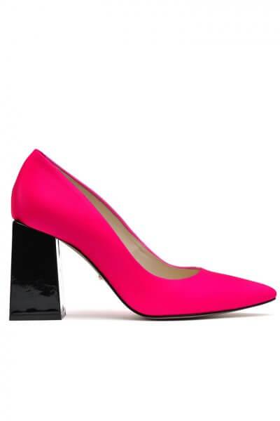 Кожаные туфли с лаковым каблуком MDVV_724866, фото 1 - в интеренет магазине KAPSULA