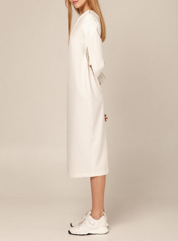 Платье миди со вставками плиссе AY_2893, фото 1 - в интеренет магазине KAPSULA