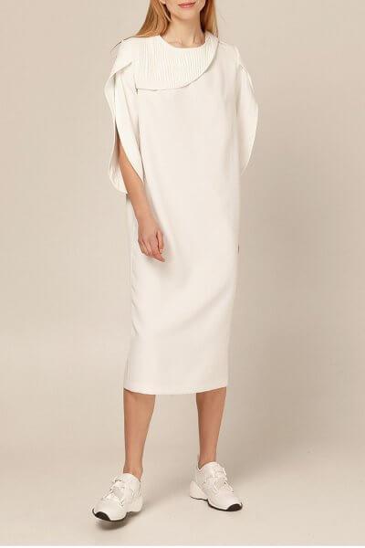 Платье миди со вставками плиссе AY_2893, фото 8 - в интеренет магазине KAPSULA