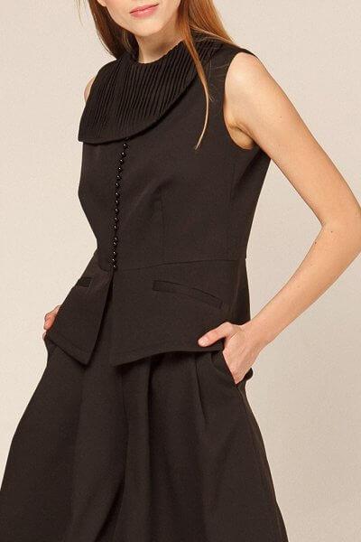 Блуза с воротником плиссе AY_2923, фото 4 - в интеренет магазине KAPSULA