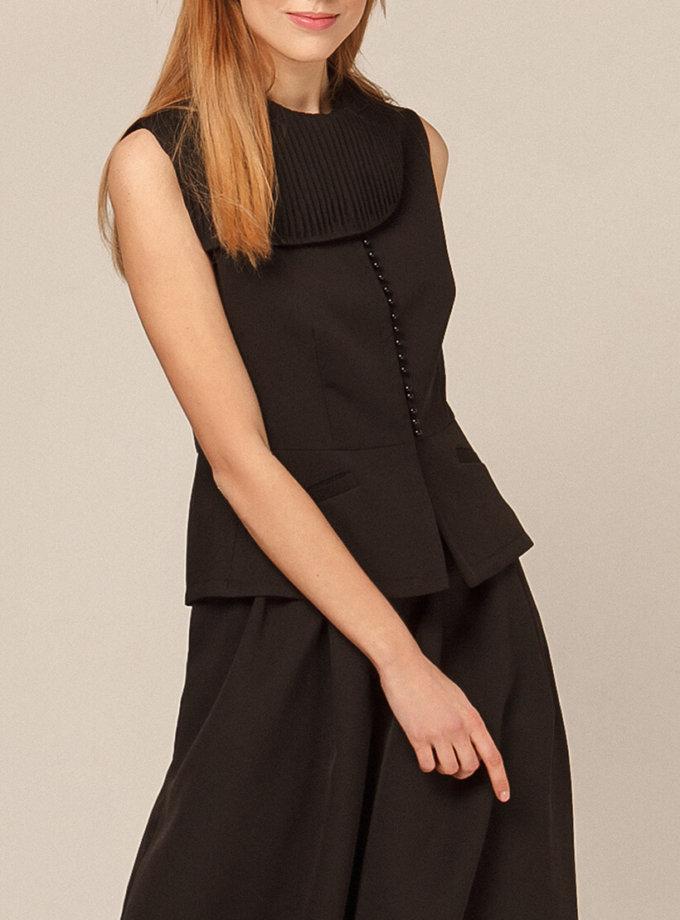 Блуза с воротником плиссе AY_2923, фото 1 - в интернет магазине KAPSULA