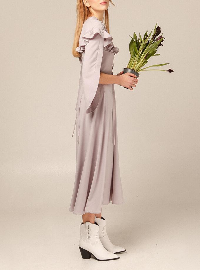 Платье миди с широкими рукавами AY_2927, фото 1 - в интернет магазине KAPSULA
