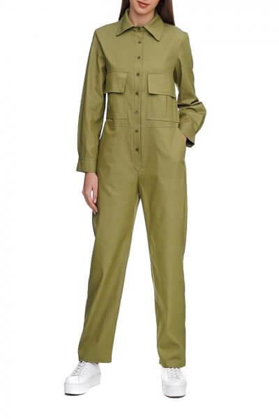 Хлопковый комбинезон с прямыми брюками AY_2935, фото 3 - в интеренет магазине KAPSULA