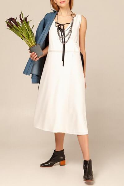 Платье миди с бархатными вставками AY_2937, фото 1 - в интеренет магазине KAPSULA