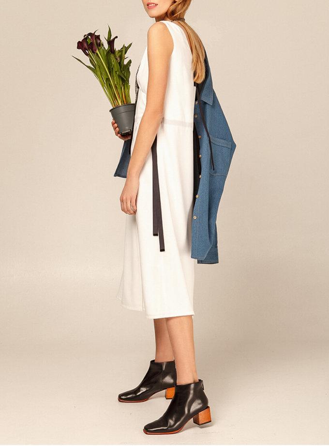 Платье миди с бархатными вставками AY_2937, фото 1 - в интернет магазине KAPSULA