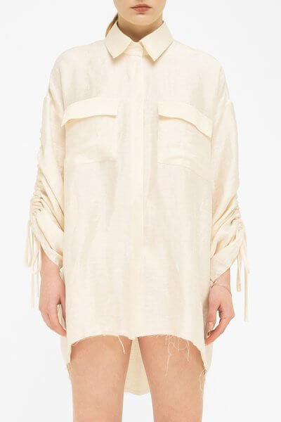 Рубашка oversize на кулисках FKL_BSS2001, фото 1 - в интеренет магазине KAPSULA