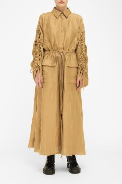 Льняное платье на завязках FKL_DSS2002, фото 1 - в интеренет магазине KAPSULA