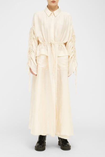 Льняное платье на завязках FKL_DSS2003, фото 1 - в интеренет магазине KAPSULA